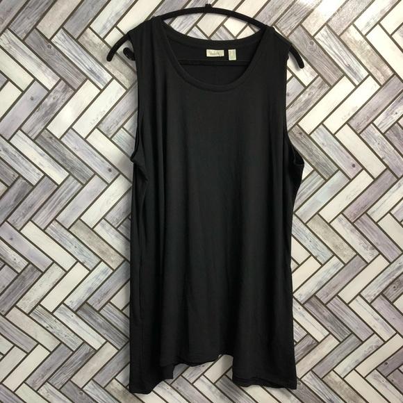 LOGO Lounge Black Sleeveless Tunic Tank Top